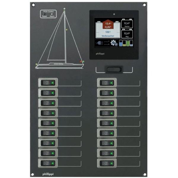 Stromkreisverteiler mit 18 Stromkreisen mit Monitor
