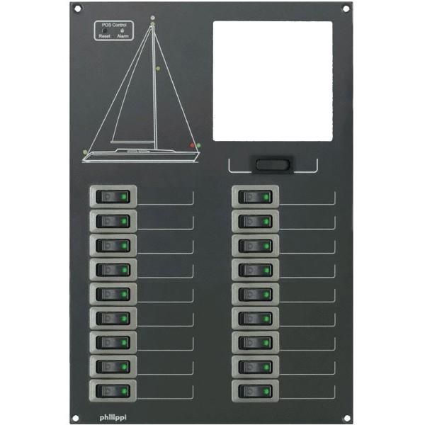 Stromkreisverteiler mit 18 Stromkreisen ohne Monitor